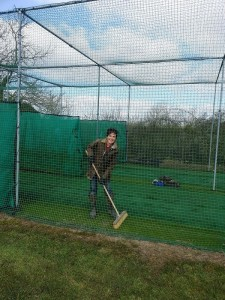 Fiona in the nets
