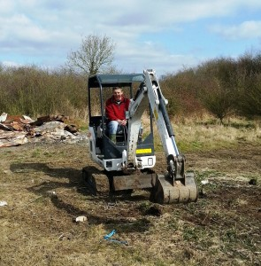Rob on his digger